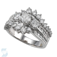 04309 1.97 Ctw Bridal Multi Stone Center