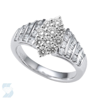 06581 1.05 Ctw Bridal Multi Stone Center