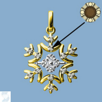 6813 0.09 Ctw Fashion Pendant