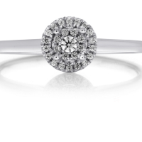 06865 0.11 Ctw Bridal Engagement Ring