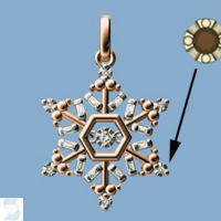 06882 0.10 Ctw Fashion Pendant